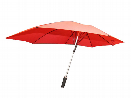 Red Wind Resistant Umbrella with Fibreglass Poles - Windproof Automatic Storm